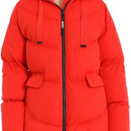 Women's Avec Les Filles Water Resistant Hooded Cozy Duvet Puffer Jacket, Size XX-Small - Red   Nordstrom