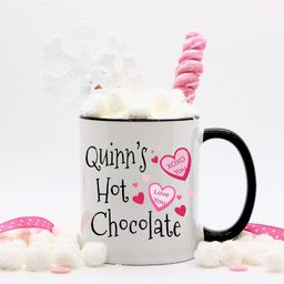 Personalized Candy Hearts Valentines Hot Chocolate Mug for | Etsy | Etsy (US)