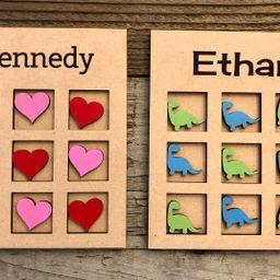 Kids valentines personalized tic-tac-toe tic tac toe kids | Etsy | Etsy (US)