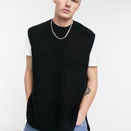 ASOS DESIGN oversized sweater vest in black   ASOS (Global)