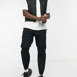 Pull&Bear ripstop cargo trousers in black   ASOS (Global)