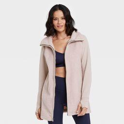 Women's Sherpa Faux Fur Full Zip Long Jacket - All in Motion™ | Target