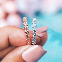 Floral Stacking Ring - Pura Vida Bracelets   Pura Vida Bracelets