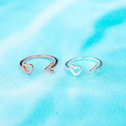 Heart & Arrow Toe Ring - Pura Vida Bracelets   Pura Vida Bracelets