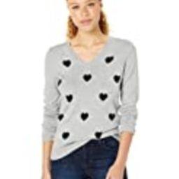 Amazon Essentials Women's Lightweight Long-Sleeve V-Neck Sweater, Black Heart, X-Large   Amazon (US)
