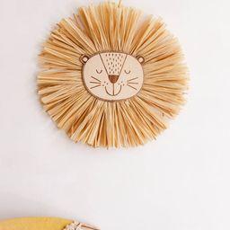 Lion Face Raffia Wall Hanging Safari Jungle Nursery  Lion | Etsy | Etsy (US)
