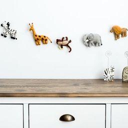 Felt animal garland / baby jungle animal banner / decor jungle theme nursery / Safari Nursery | Etsy (US)