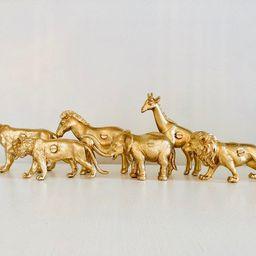 Safari animal furniture knobs / drawer pulls - Painted plastic toys. | Etsy (US)