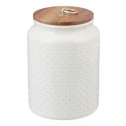 Better Homes & Gardens Ceramic Medium Dot Hobnail Canister | Walmart (US)