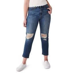 Juniors' SO® High-Rise Curvy Mom Destructed Jeans | Kohl's