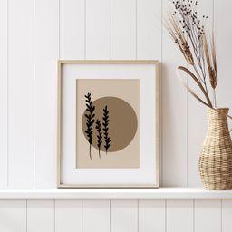 Boho Leaf Print   Line Art Plant Print   Botanical Print   Botanical Drawing   Minimalist Print  ...   Etsy (US)