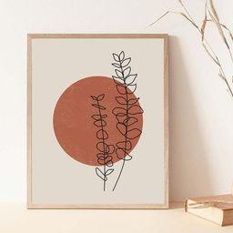 Sun boho print, Botanical boho print, Abstract sun print, Sun boho poster, Boho abstract print, P...   Etsy (US)