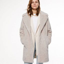 Cream Teddy Faux Fur Long Coat  Add to Saved Items Remove from Saved Items | New Look (UK)