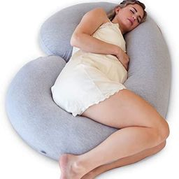 PharMeDoc Pregnancy Pillow with Travel & Storage Bag, C Shaped Full Body Pillow with Grey Jersey ...   Amazon (US)