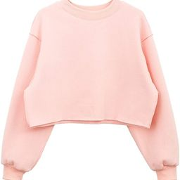 Women Pullover Cropped Hoodies Long Sleeves Sweatshirts Casual Crop Tops for Spring Autumn Winter   Amazon (US)