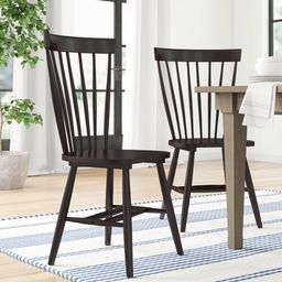 Spindle Solid Wood Windsor Back Side Chair (Set of 2)   Wayfair North America