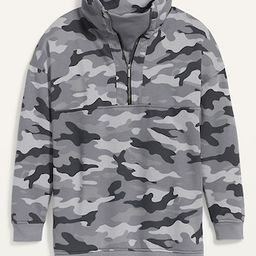 Oversized Half-Zip French Terry Funnel-Neck Sweatshirt for Women   Old Navy (US)