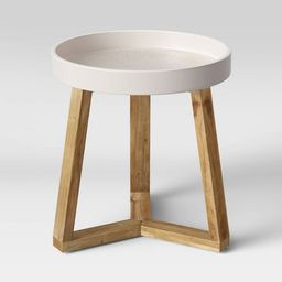 Celadine Round Cement Top Accent Table Cream - Opalhouse™ | Target