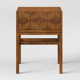 Tachuri Geometric Front Accent Table Brown - Opalhouse™ | Target