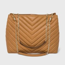 Quilted Chain Handle Magnetic Closure Tote Handbag - A New Day™ | Target