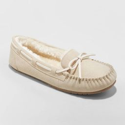 Women's Chaia Genuine Suede Moccasin Slippers - Stars Above™ | Target