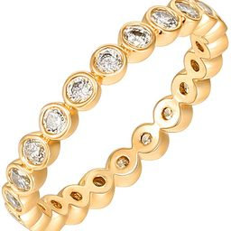 14K Gold Plated Rings Cubic Zirconia Love Ring   2.8mm Stackable Rings for Women   Gold Rings for...   Amazon (US)
