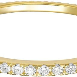 14K Gold Plated Sterling Silver CZ Simulated Diamond Stackable Ring Eternity Bands for Women   Amazon (US)
