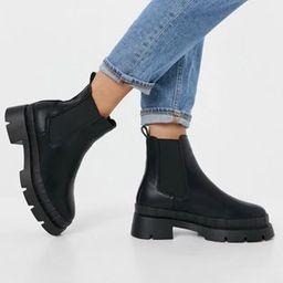 RAID Wide Fit Turner chunky chelsea boots in black | ASOS | ASOS (Global)