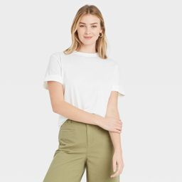 Women's Short Sleeve Cuff T-Shirt - A New Day™ | Target