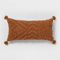 Oversize Embroidered Textured Lumbar Throw Pillow - Opalhouse™   Target