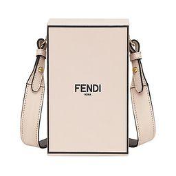 Fendi   Logo Leather Crossbody Box Bag    5 out of 5 Customer Rating | Saks Fifth Avenue