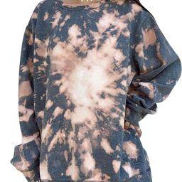 FASHIONWT Women Oversized Tie Dye Printed Pullover Crewneck Sweatshirt   Walmart (US)