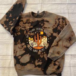 Acid washed Sweatshirt Desert sweatshirt bleach dipped   Etsy   Etsy (US)
