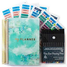 Goals & Gratitude Planner with Pens, Stickers, and Sticker Tabs (Undated) - Busy Bee Planners | Amazon (US)