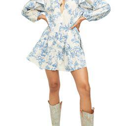 Sunbaked Floral Long Sleeve Swing Minidress | Nordstrom