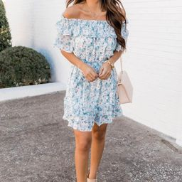 Posh Presence Teal Floral Dress   The Pink Lily Boutique