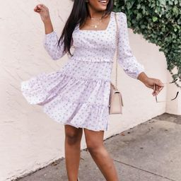 Humble Attitude Lilac Floral Dress   The Pink Lily Boutique