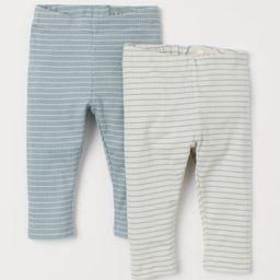 2-pack Ribbed Leggings | H&M (US)