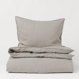 Washed Linen Duvet Cover Set | H&M (US)