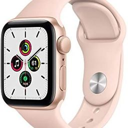 New Apple Watch SE (GPS, 40mm) - Gold Aluminum Case with Pink Sand Sport Band | Amazon (US)
