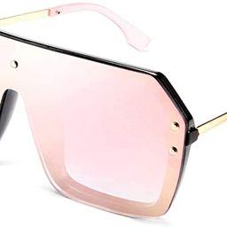 FEISEDY Classic Siamese One Piece Sunglasses Nice Rimless Stylish Retro Design for Women Men B257... | Amazon (US)