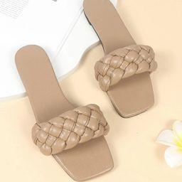 Braided Slide Sandals   SHEIN