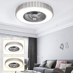 Amazon.com: Ceiling Fan with Lights Bluetooth Fan Light Led Bedroom Light Ceiling Fan Light 110v ... | Amazon (US)