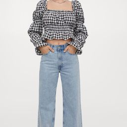 Cropped Puff-sleeved Top | H&M (US)