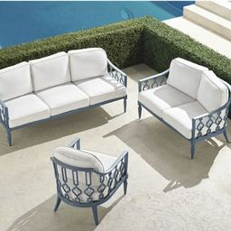 Avery 3-pc. Sofa Set in Moonlight Blue Finish   Frontgate   Frontgate