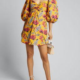 A.L.C. Elle Floral Puff-Sleeve Mini Dress | Bergdorf Goodman