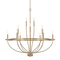Capital Lighting Fixture Company HomePlace Greyson Aged Brass 40 Inch 12 Light Chandelier 428501a... | Bellacor