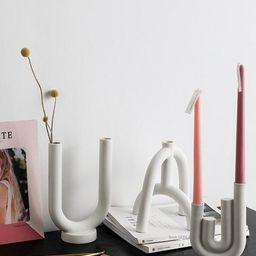 White Ceramic Candleholder Ceramic Candlestick Holder Home   Etsy   Etsy (CAD)