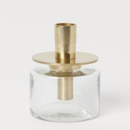Metal and Glass Candlestick   H&M (US)