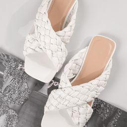 Vegan Leather Open-Toe Braided Strap Sandals | SHEIN